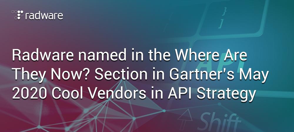 Gartner's Cool Vendors in API Strategy 2020 Report
